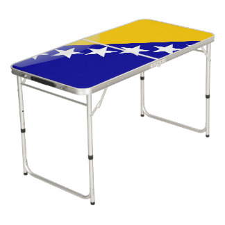 Bosnian glossy flag beer pong table