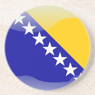 Bosnian glossy flag coaster