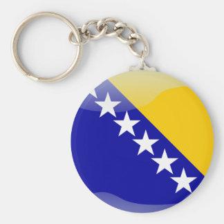 Bosnian glossy flag key ring