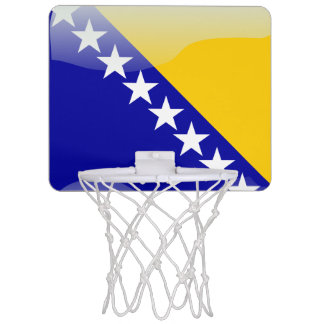 Bosnian glossy flag mini basketball hoop