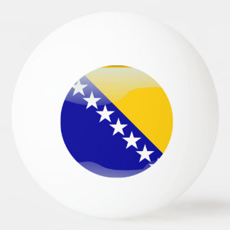 Bosnian glossy flag ping pong ball