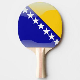 Bosnian glossy flag ping pong paddle