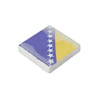 Bosnian glossy flag stone magnet