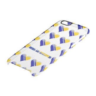 Bosnian heart clear iPhone 6/6S case