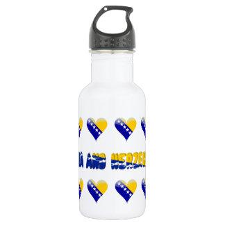 Bosnian hearts 532 ml water bottle