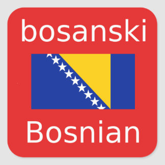 Bosnian Language Design Square Sticker