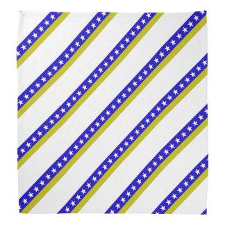Bosnian stripes flag bandana