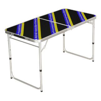 Bosnian stripes flag beer pong table