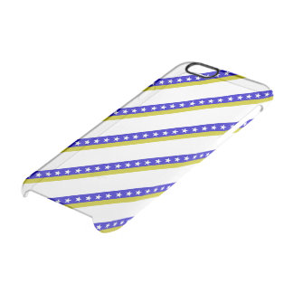 Bosnian stripes flag clear iPhone 6/6S case