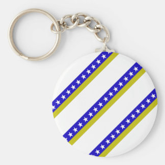 Bosnian stripes flag key ring