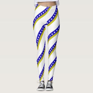 Bosnian stripes flag leggings