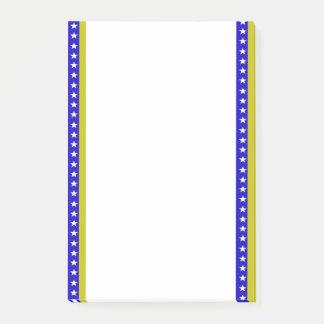 Bosnian stripes flag post-it notes