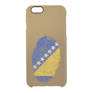 Bosnian touch fingerprint flag clear iPhone 6/6S case