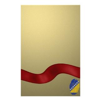 Bosnian touch fingerprint flag custom stationery