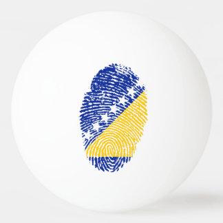 Bosnian touch fingerprint flag ping pong ball
