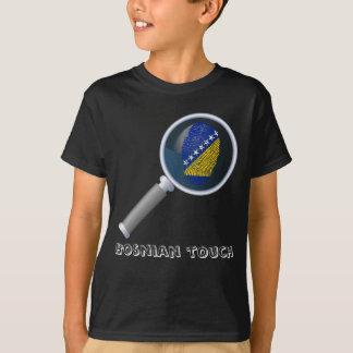 Bosnian touch fingerprint flag T-Shirt