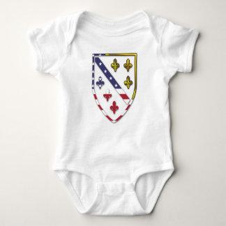 BosnianAmerican Clear Custom Flag Design Logo Baby Bodysuit
