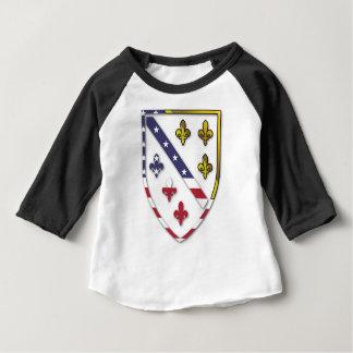 BosnianAmerican Clear Custom Flag Design Logo Baby T-Shirt