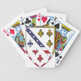 BosnianAmerican Clear Custom Flag Design Logo Bicycle Playing Cards