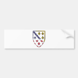 BosnianAmerican Clear Custom Flag Design Logo Bumper Sticker