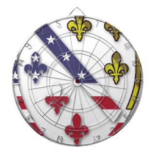 BosnianAmerican Clear Custom Flag Design Logo Dartboard