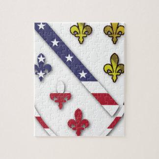 BosnianAmerican Clear Custom Flag Design Logo Jigsaw Puzzle