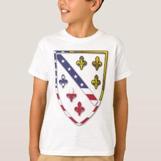 BosnianAmerican Clear Custom Flag Design Logo T-Shirt