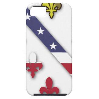 BosnianAmerican Clear Custom Flag Design Logo Tough iPhone 5 Case