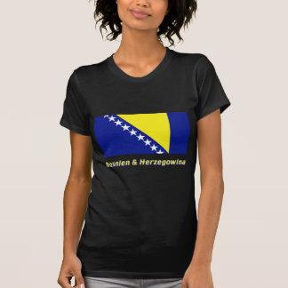 Bosnien & Herzegowina Flagge mit Namen T-Shirt