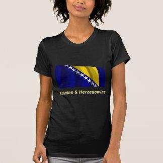 Bosnien & Herzegowina Fliegende Flagge mit Namen Tshirt