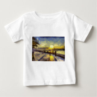 Bosphorus Istanbul Sunset Art Baby T-Shirt