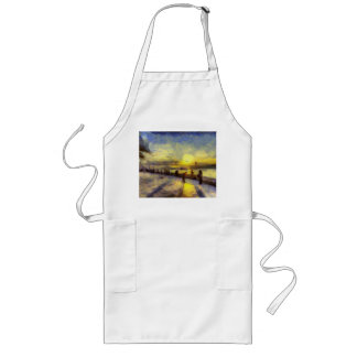 Bosphorus Istanbul Sunset Art Long Apron
