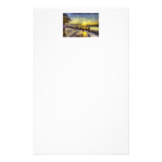 Bosphorus Istanbul Sunset Art Stationery