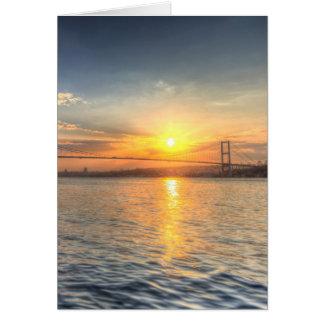 Bosphorus Sunset Istanbul Card