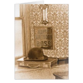 Boss Birthday - Vintage, Nostalgia, Retro Birthday Card
