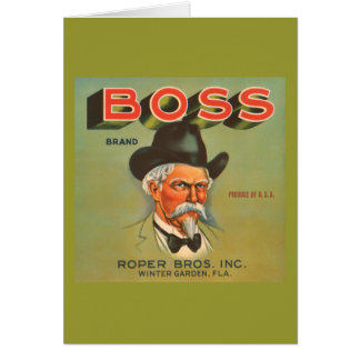 Boss Brand Produce Vintage Ad Greeting Card