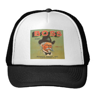 Boss Brand Produce Vintage Ad Hat
