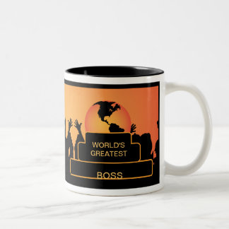 Boss Cheering World's Greatest Mug