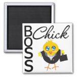 Boss Chick Square Magnet