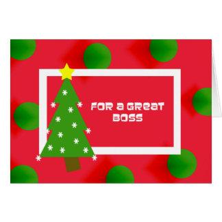 Boss Christmas Card