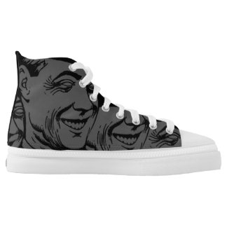 BOSS CLONES High Top Printed Shoes