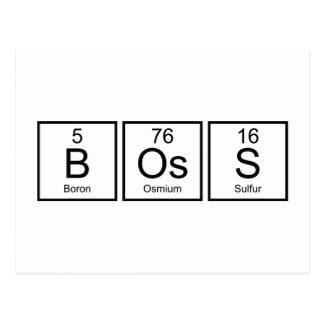 Boss Elements Postcard