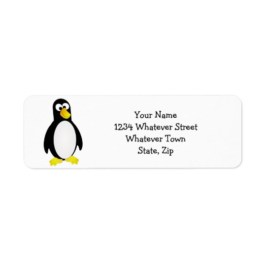 Boss Eyed Penguin Return Address Label