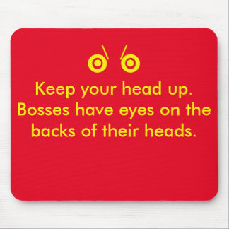 Boss eyes mouse pad