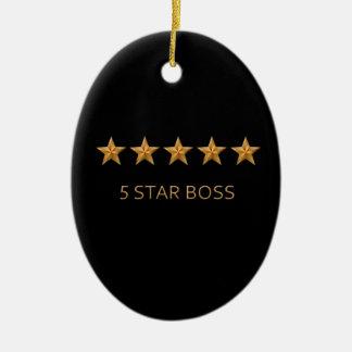 Boss Five 5 Star Award Christmas Ornament