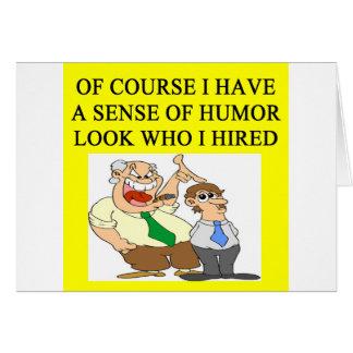 boss humor greeting card