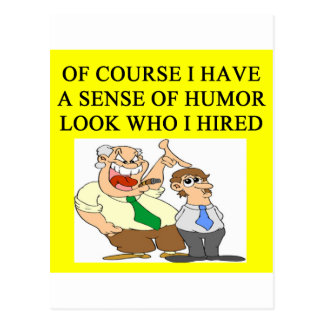 boss humor postcard