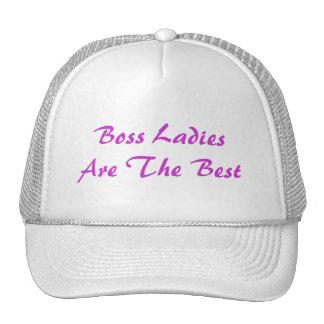 Boss Ladies Are The Best Trucker Hat Mesh Hat