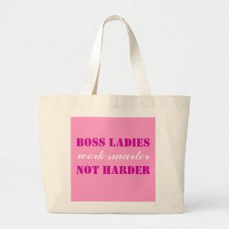 Boss Ladies Work Smarter Not Harder Jumbo Tote Jumbo Tote Bag