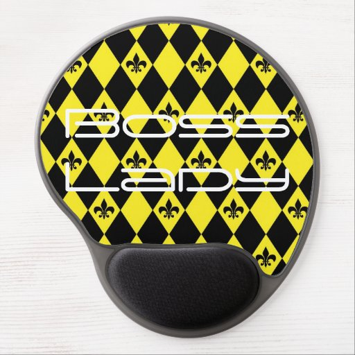 Boss Lady Black and Yellow Gel Mousepad